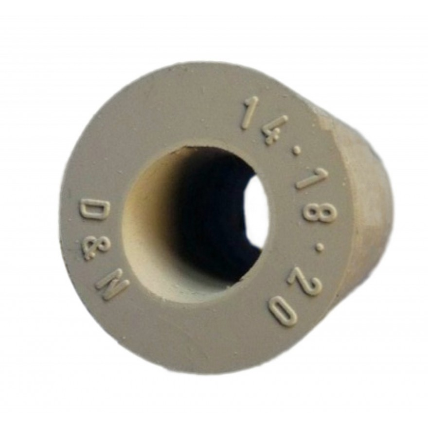 gummistopfen konisch 14 18 mm konische stopfen aus grauem. Black Bedroom Furniture Sets. Home Design Ideas